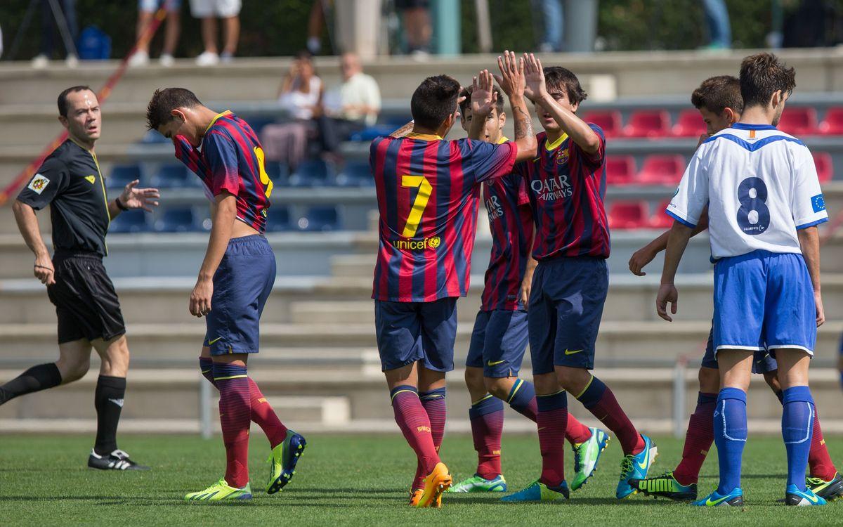 Barça and Ajax kick off the UEFA Youth League at the Mini