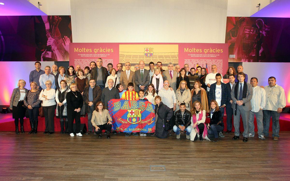 Acte d'agraïment a les entitats col•laboradores de la Diada del Soci Solidari