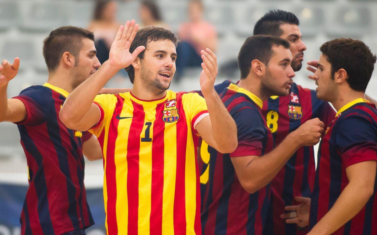 El Barça de vòlei masculí, a la final de la Lliga Catalana (3-1)