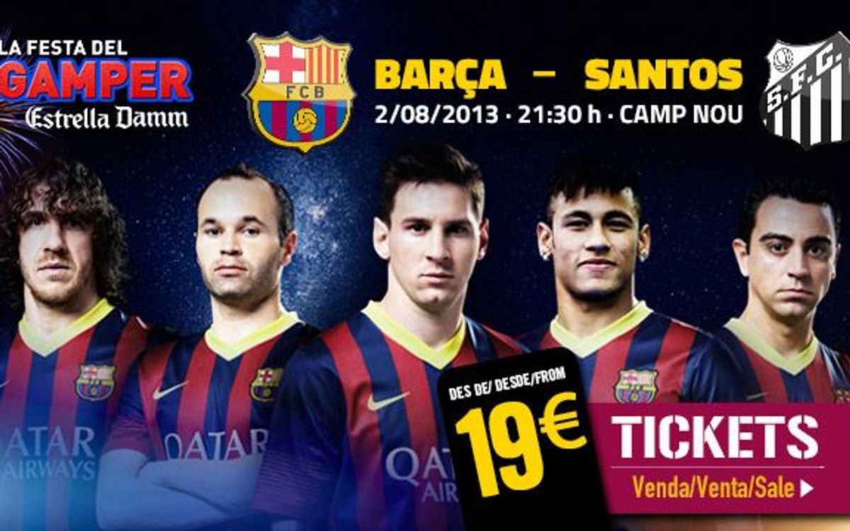 Joan Gamper Trophy tickets to go on sale this Wednesday