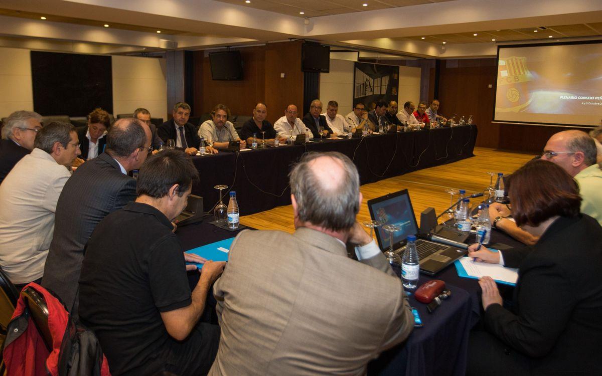 El FC Barcelona i el Consell de Penyes celebren el Plenari previ a l'Assemblea