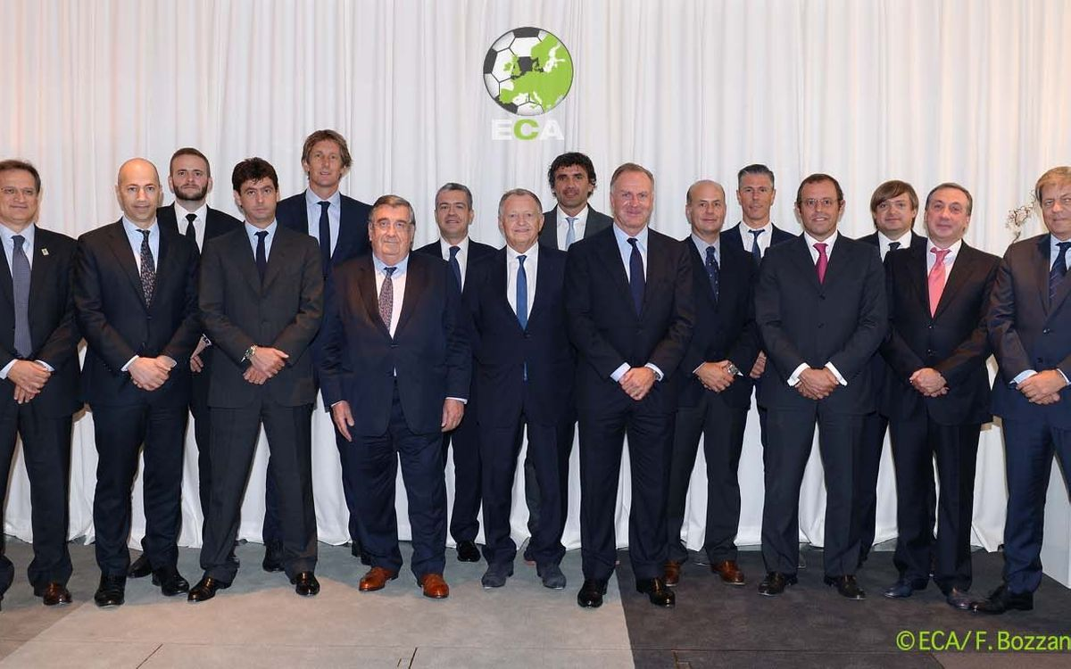 Sandro Rosell, re-elected as ECA vice-president