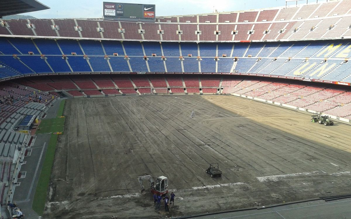 New pitch and undersoil heating system set to be installed at the Camp Nou