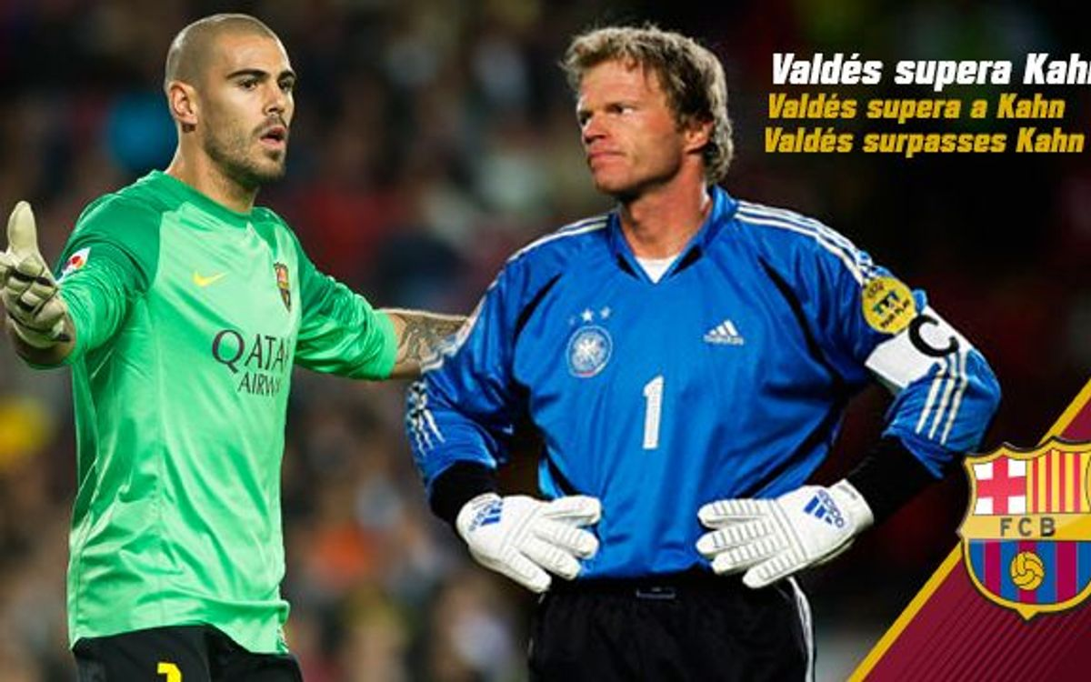 Víctor Valdés surpasses his hero Olver Kahn