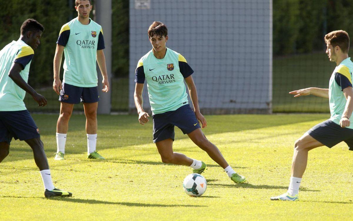 Edu Bedia s'incorpora a la dinàmica del Barça B