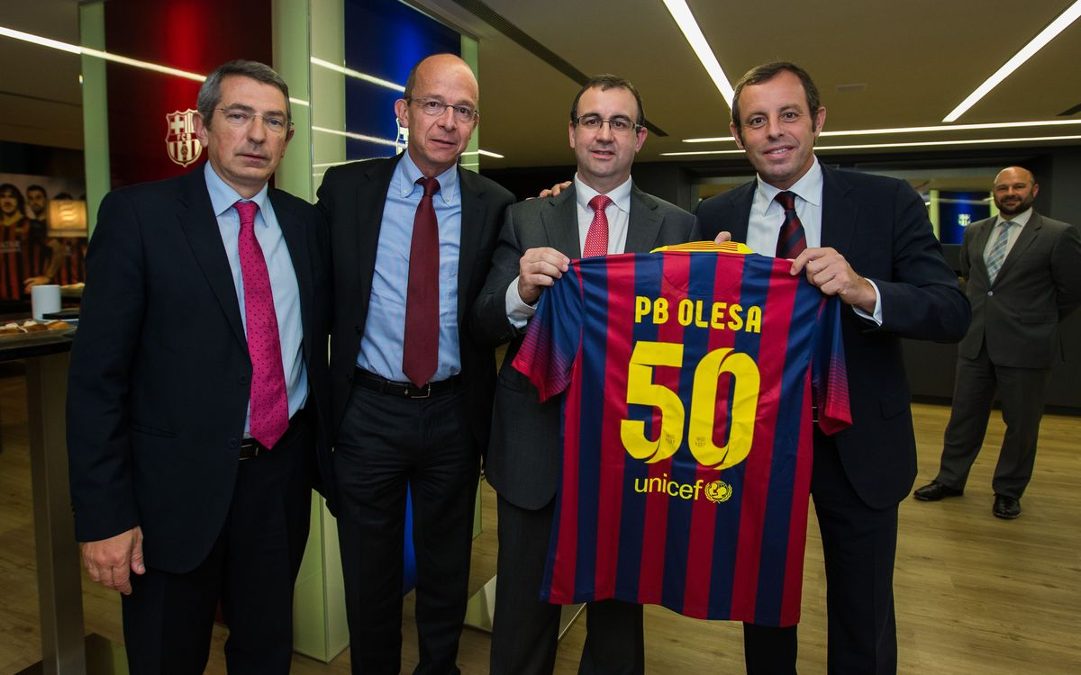 Reception for Penya Barcelonista d'Olesa