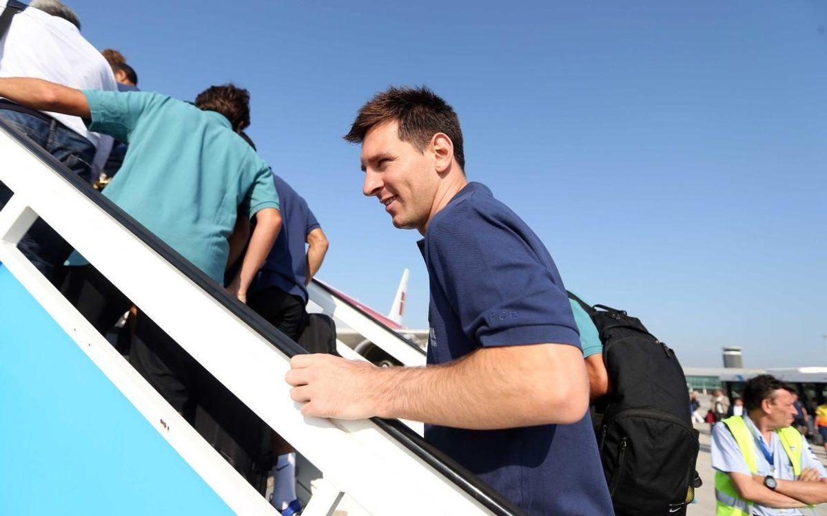 Le FC Barcelone en route vers Munich