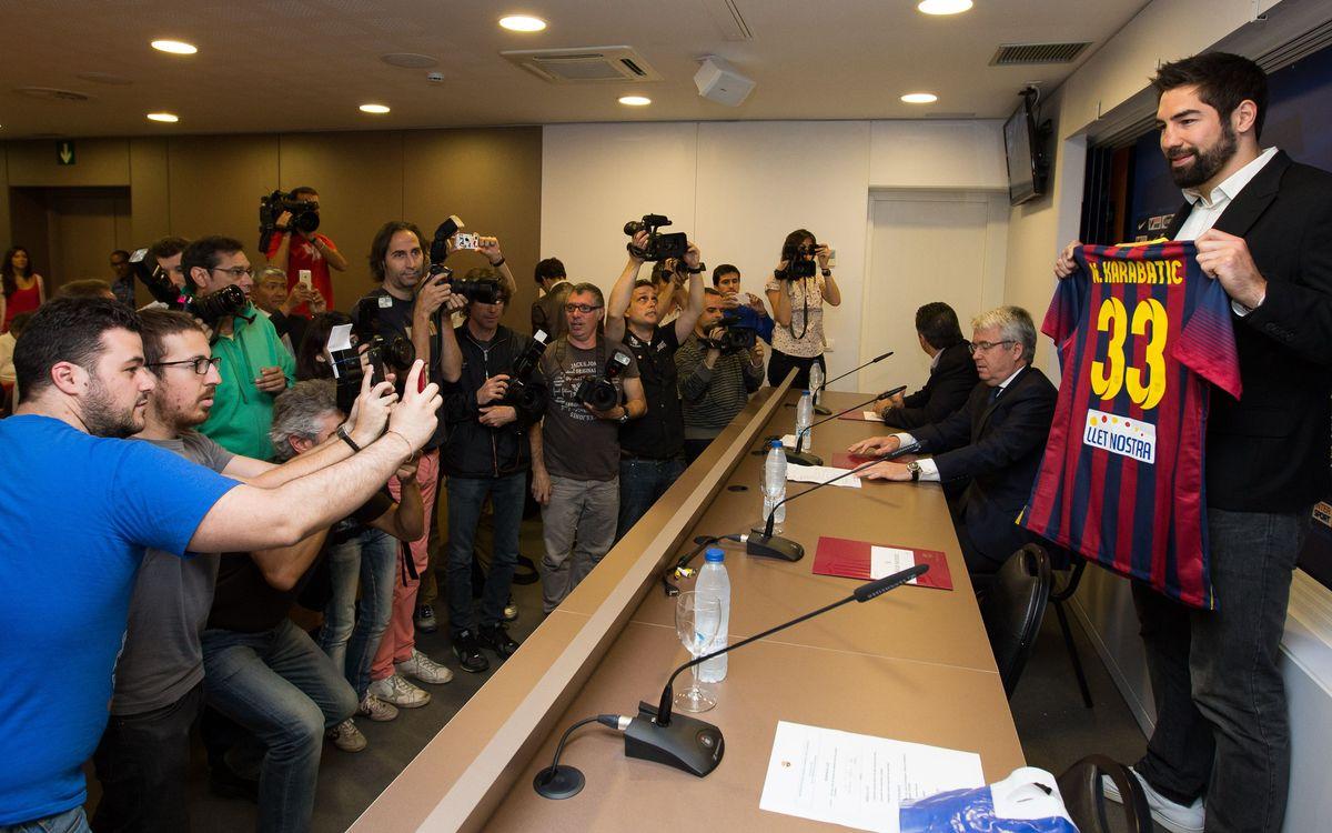 Nikola Karabatic als mitjans de comunicació