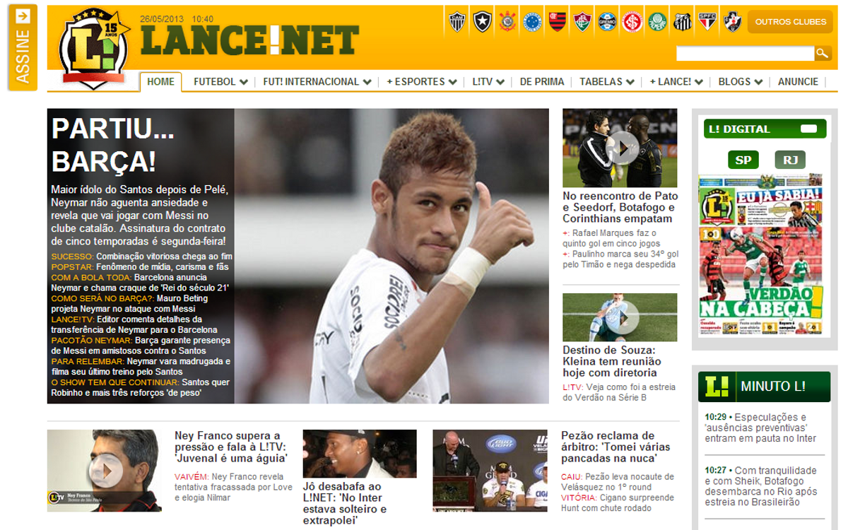Neymar deal picked up by international press