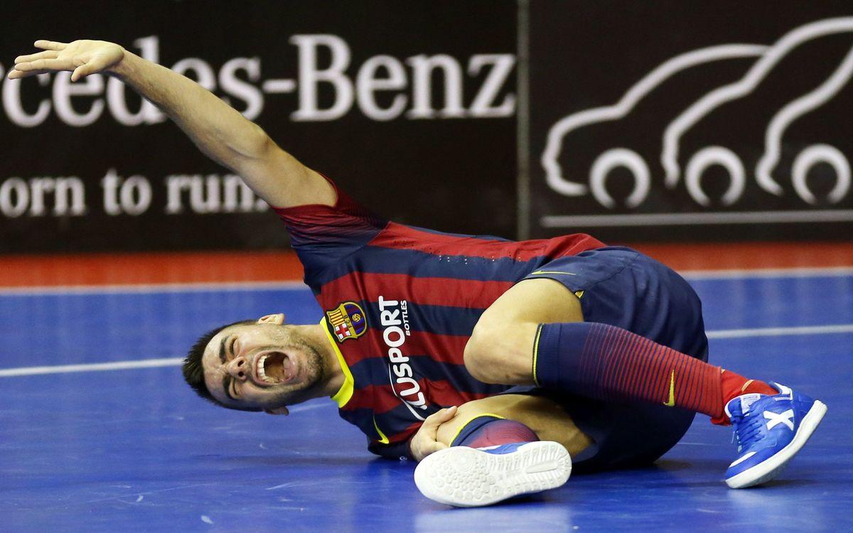 Sergio Lozano estarà entre vuit i deu setmanes de baixa