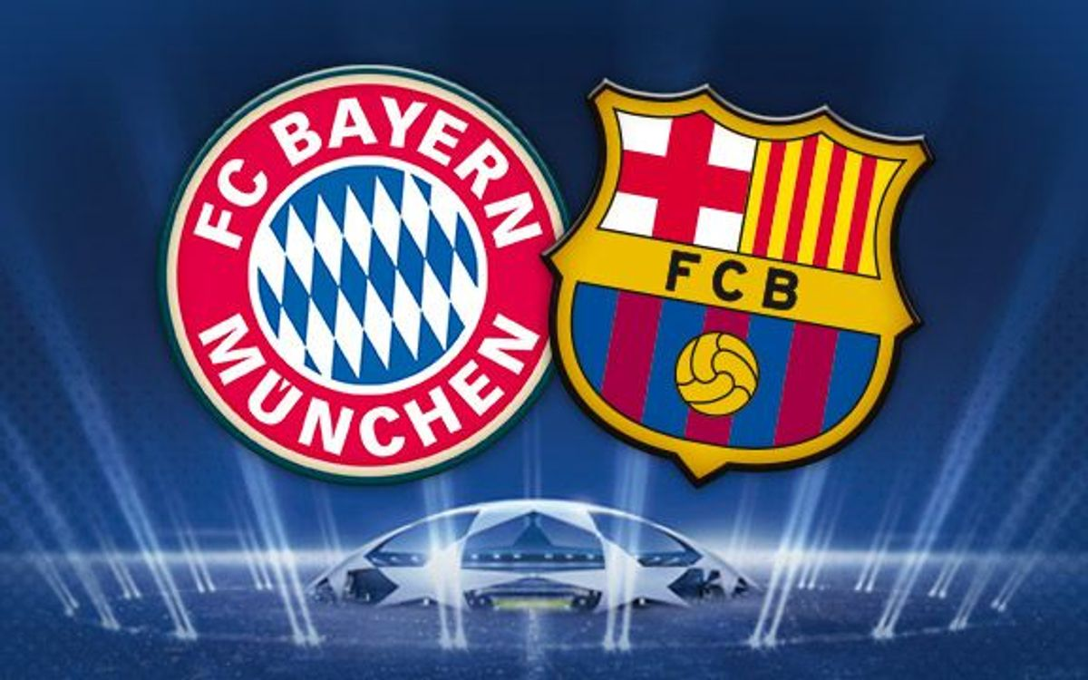 FC Barcelona have been drawn against Bayern Munchen in the semi finals of the Champions League
