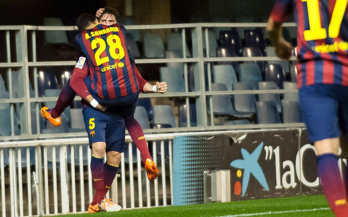 FC Barcelona B – Reial Sporting: Edu Bedia salva un punt al temps afegit (2-2)