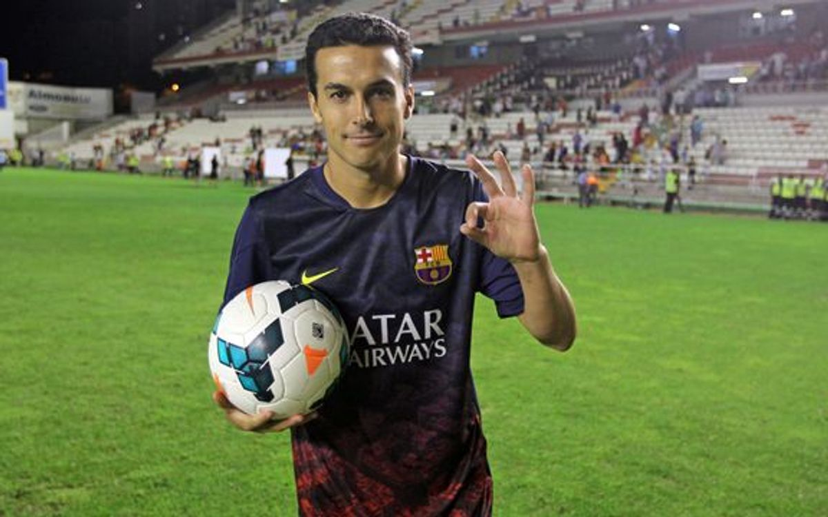 Pedro's first hat-trick for FC Barcelona