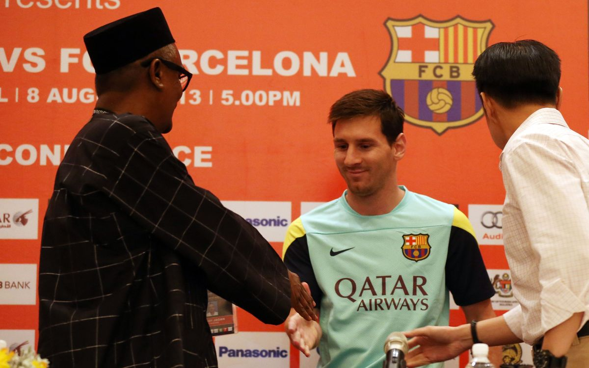 Messi getting on well with Neymar