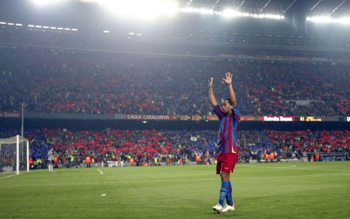 Les statistiques de Ronaldinho avec le FC Barcelone
