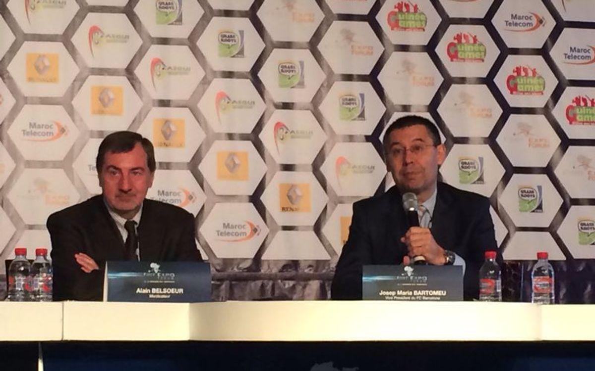 Bartomeu expose le modèle de formation du Barça au Foot Expo Forum de Marrakech