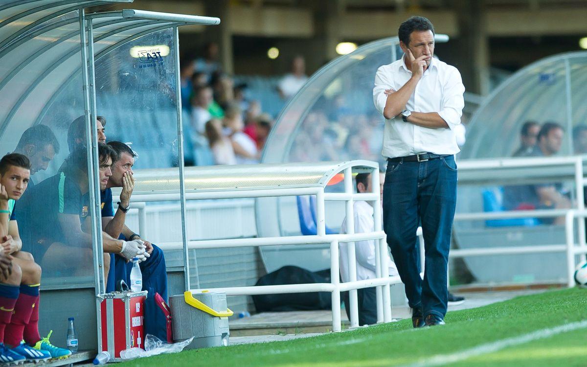 """Eusebio: """"Continuo estant molt content amb l'actitud dels jugadors"""""""