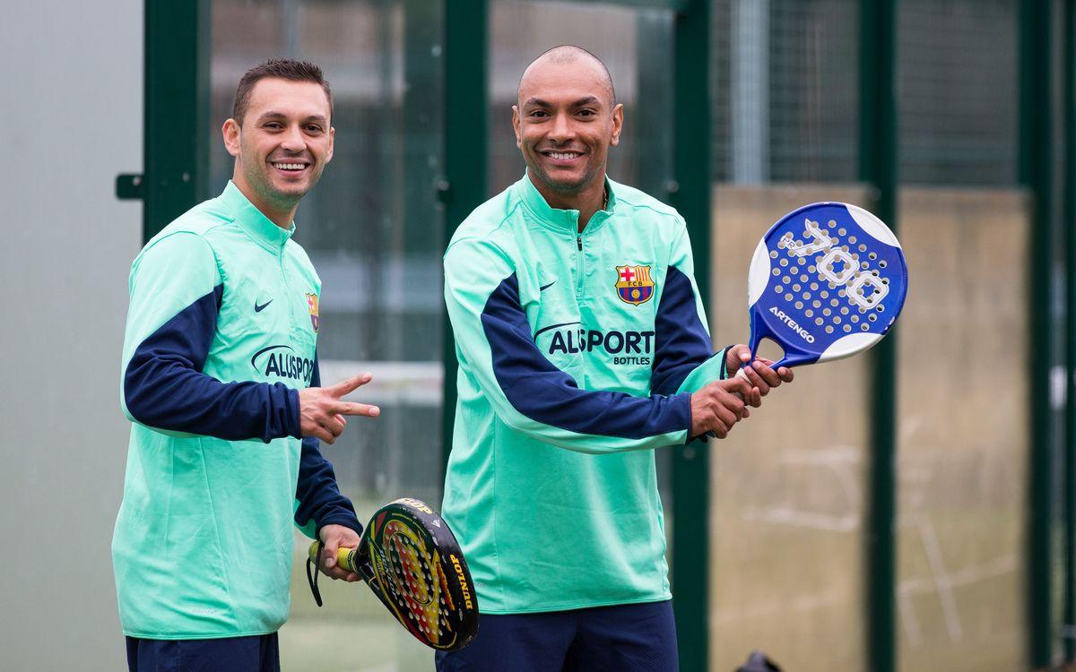 El Barça Alusport viu un matí diferent jugant a pàdel