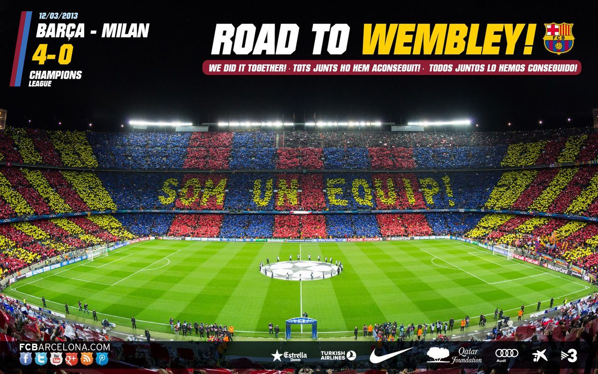 Road to Wembley: New wallpaper available!