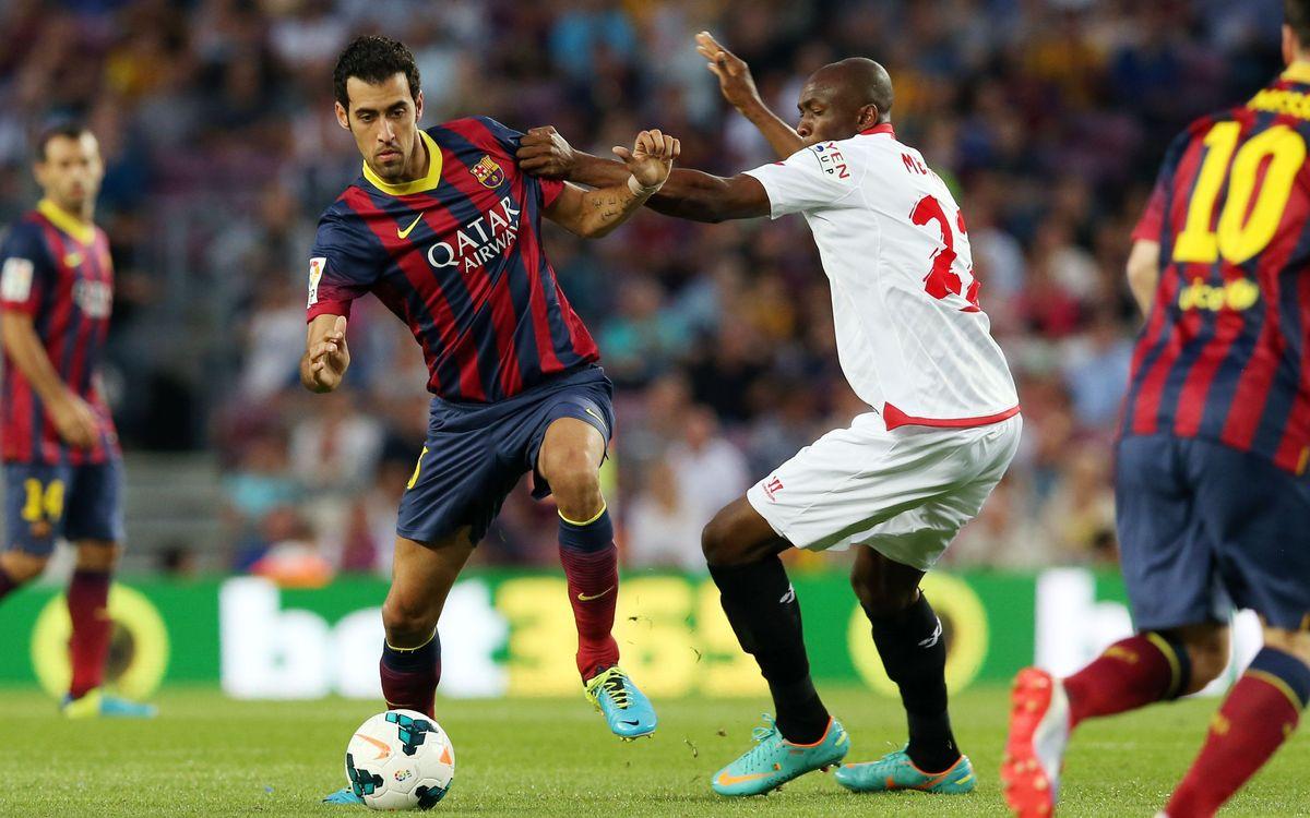 Sergio Busquets makes 150th Liga appearance with Barça