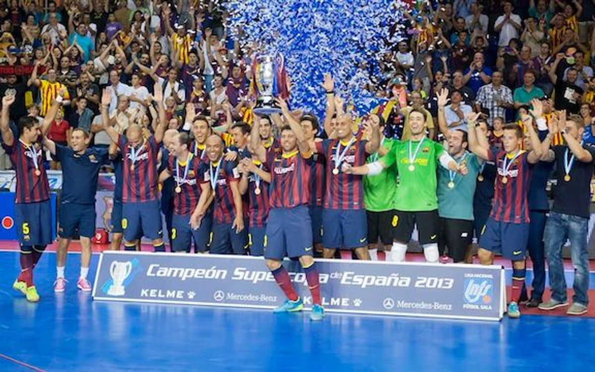 Barça Alusport – ElPozo: Exhibition leads to first ever Super Cup (5-5)