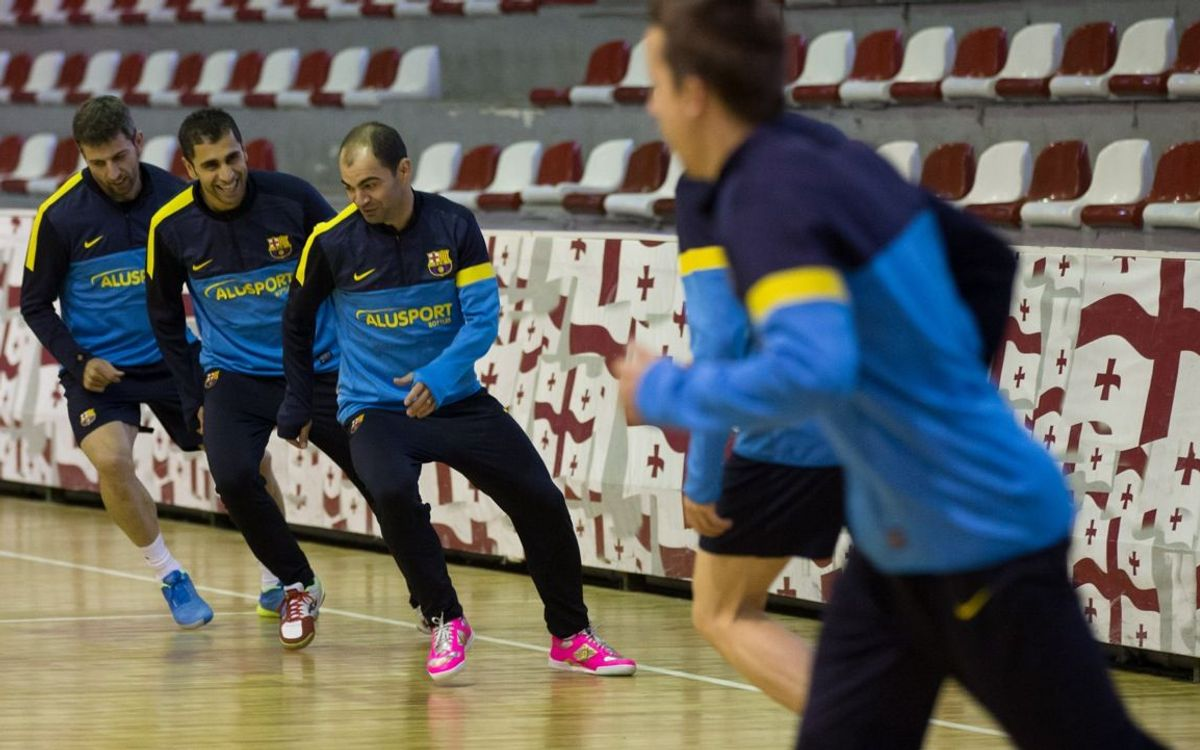 Barça Alusport prepare for the Final Four in Georgia