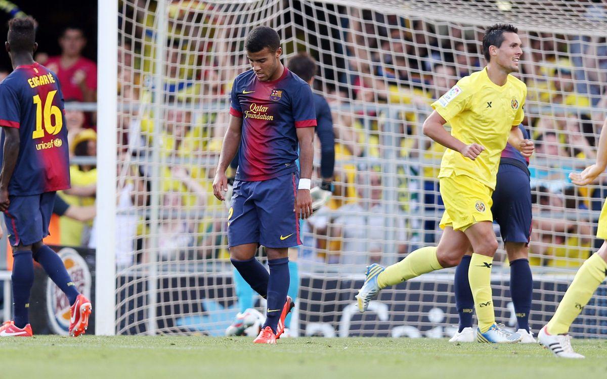 Barça B - Vila-real: Derrota contra un rival de primera (0-3)