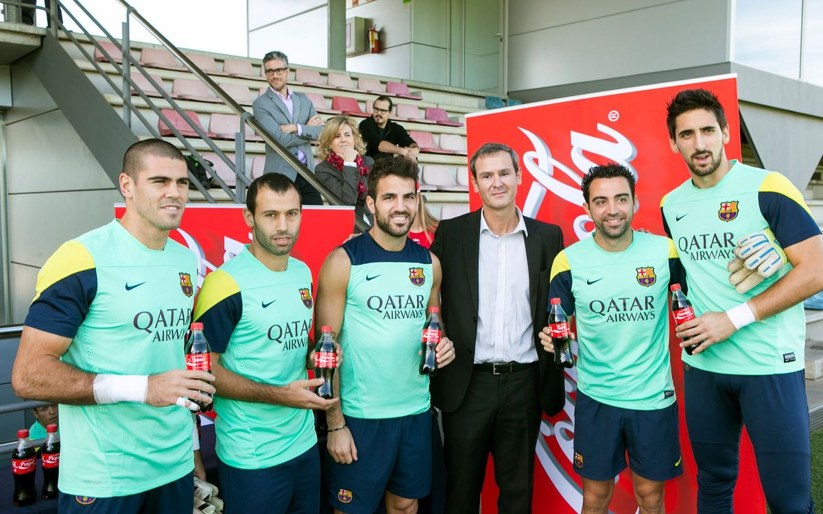 Personalised Coca-Cola for the players