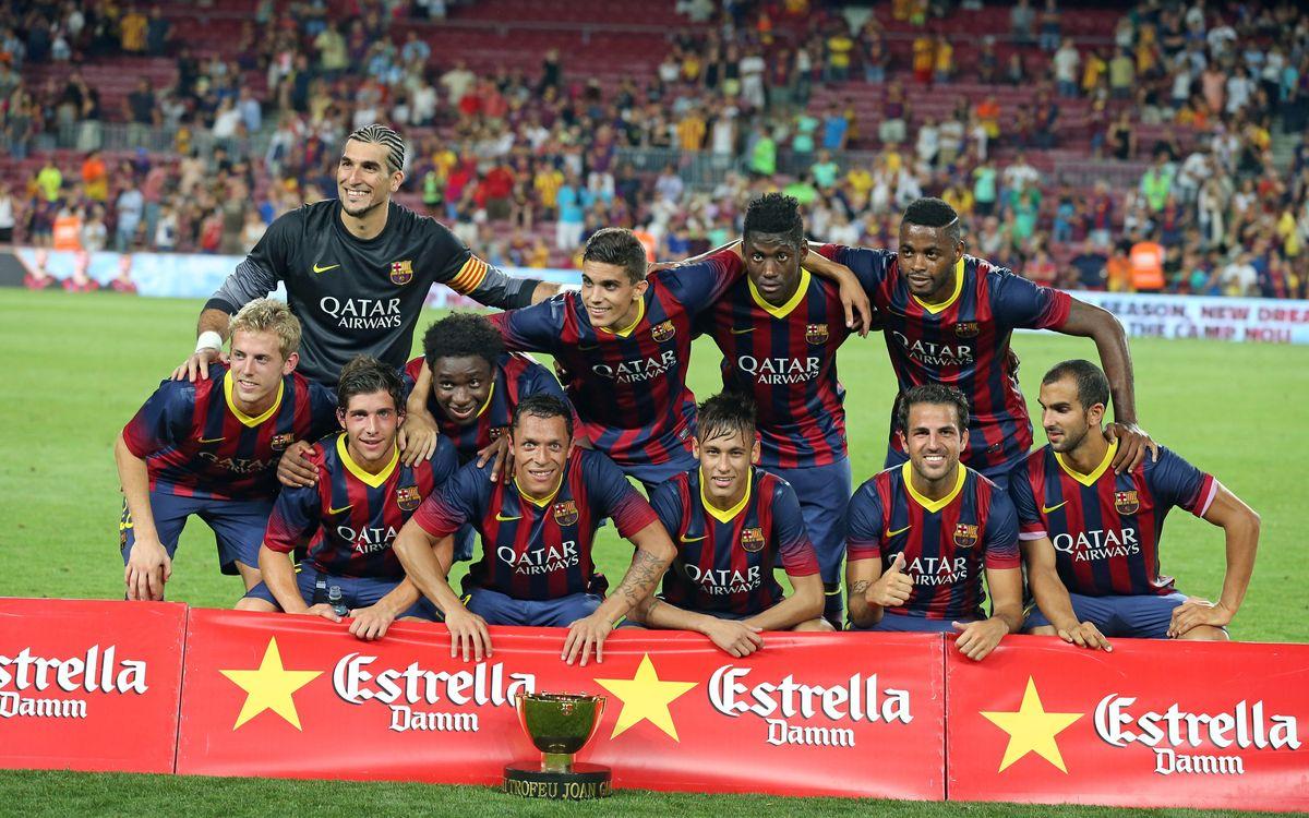 36 Gampers gagnés, et quatre débutants au Camp Nou