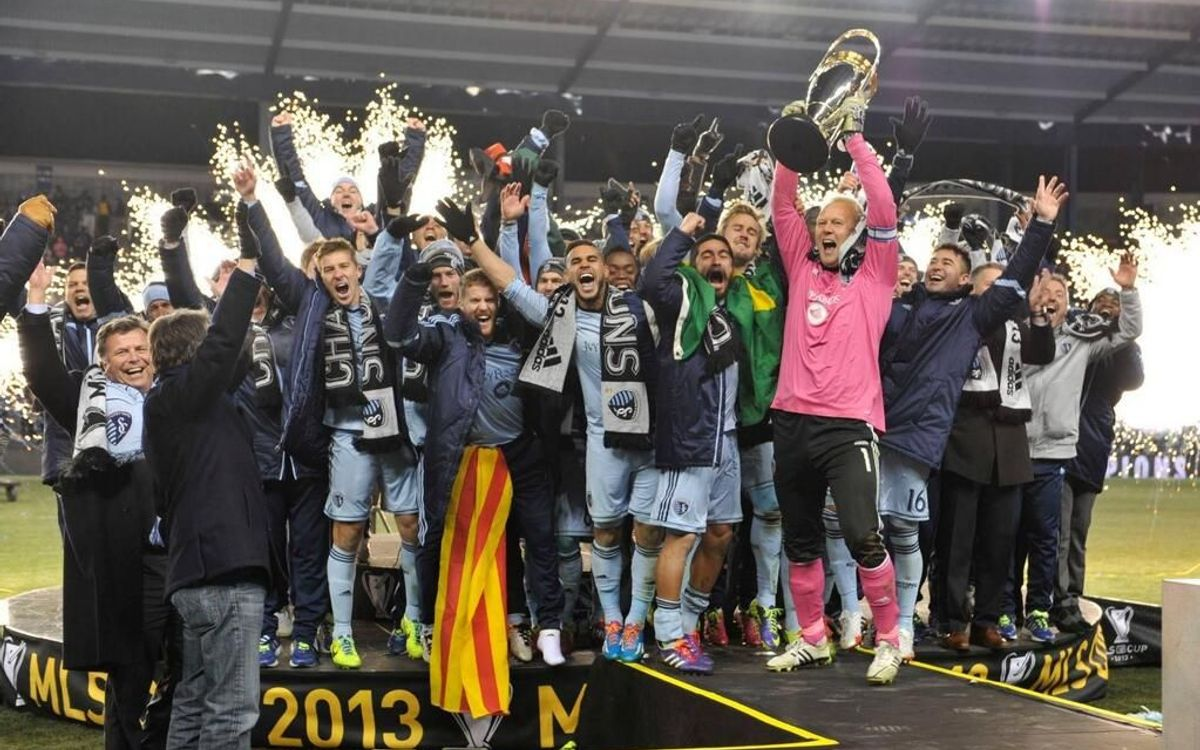 Former FC Barcelona player Oriol Rosell wins the MLS Cup