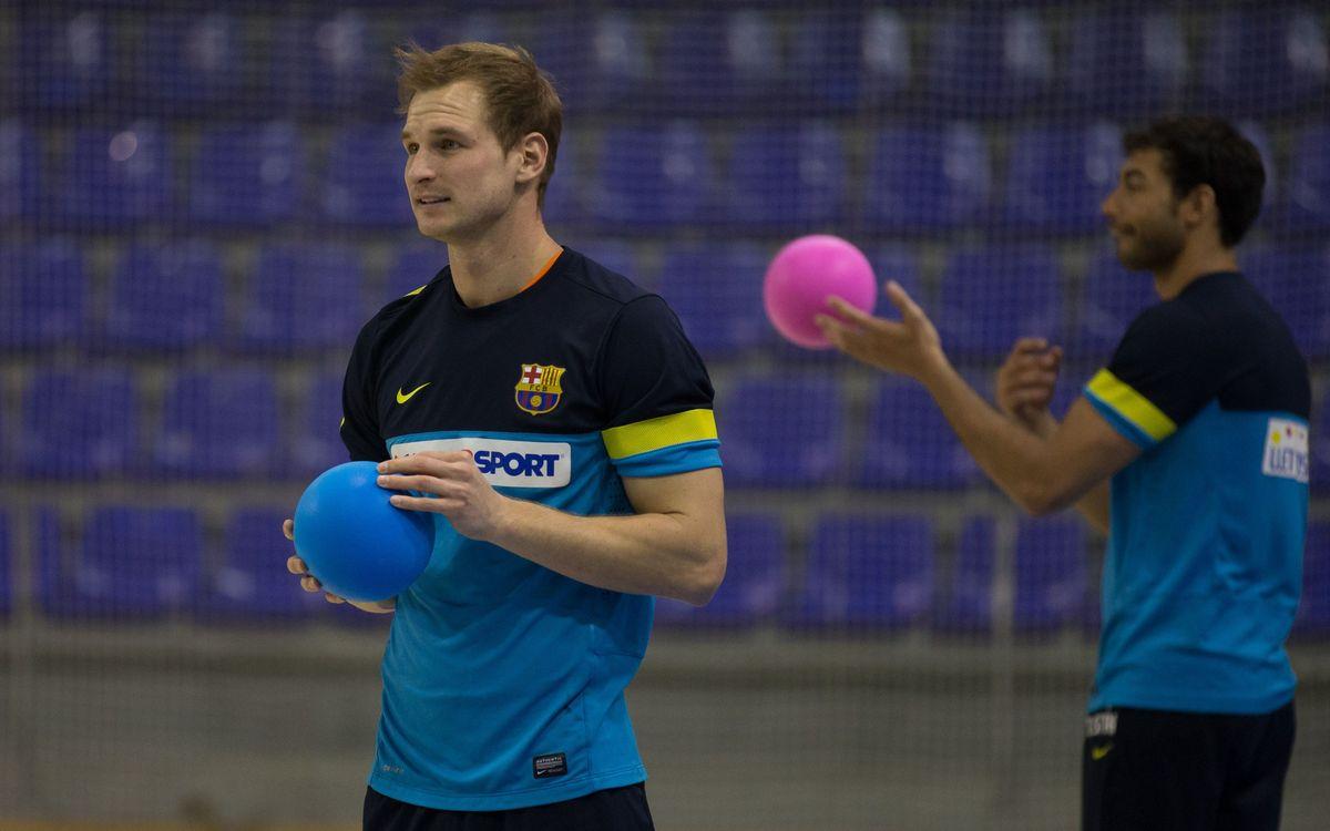 Els internacionals del Barça Intersport tornen a la feina