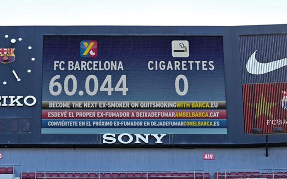 60.000 europeus 'Deixen de fumar amb el Barça' i la Comissió Europea