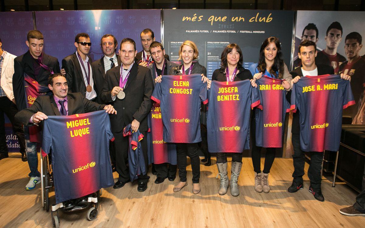 Els medallistes paralímpics, al Camp Nou
