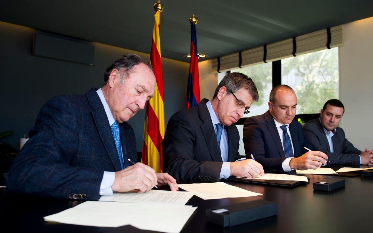 El FC Barcelona i la Federació Catalana de Futbol signen un conveni de col·laboració per donar suport al futbol formatiu català