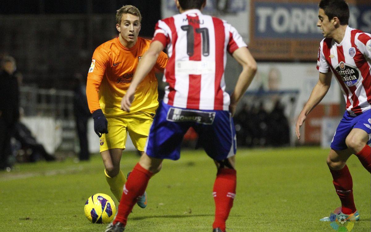 El Barça B ha guanyat remuntant a Lugo amb dos gols d'Araujo en el segon temps (1-2)