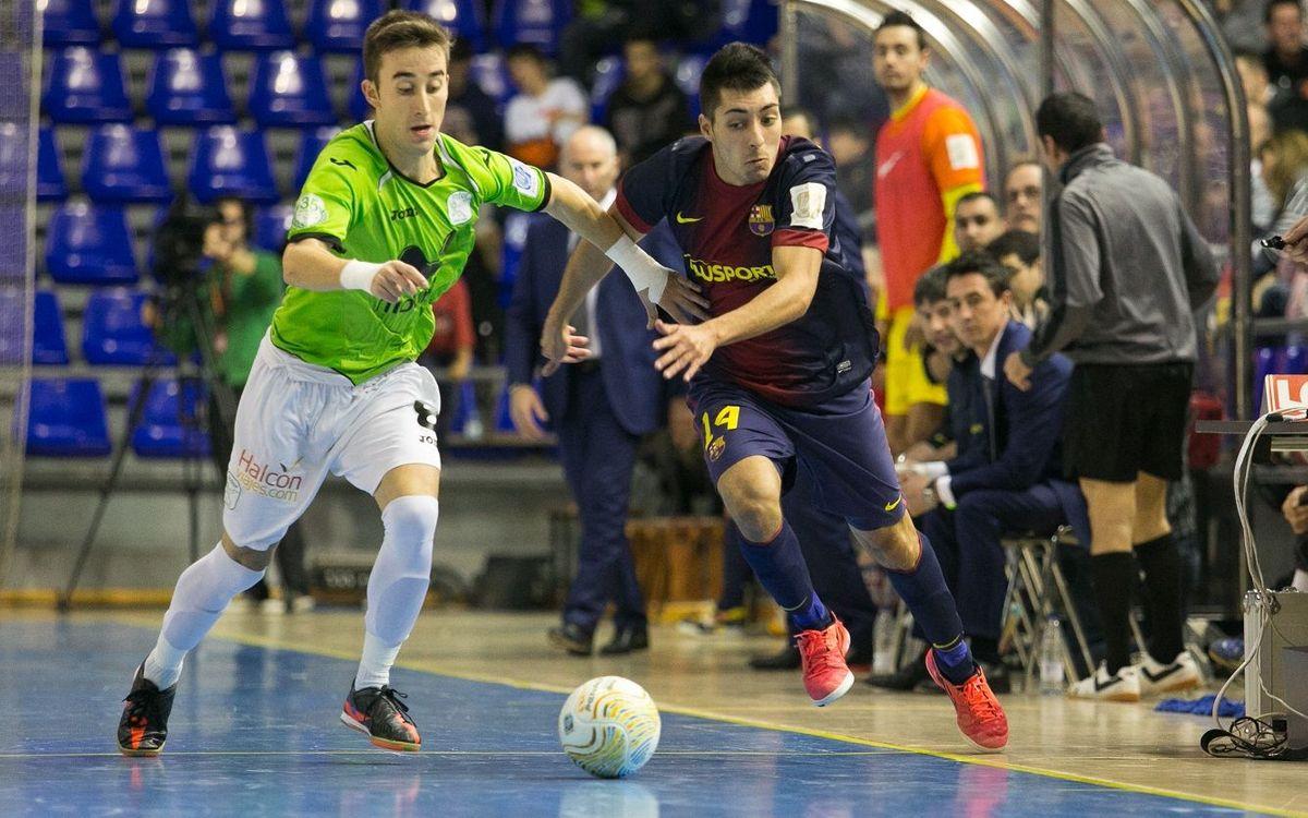 El FC Barcelona Alusport B ja és quart després de superar l'Antequera (7-5)