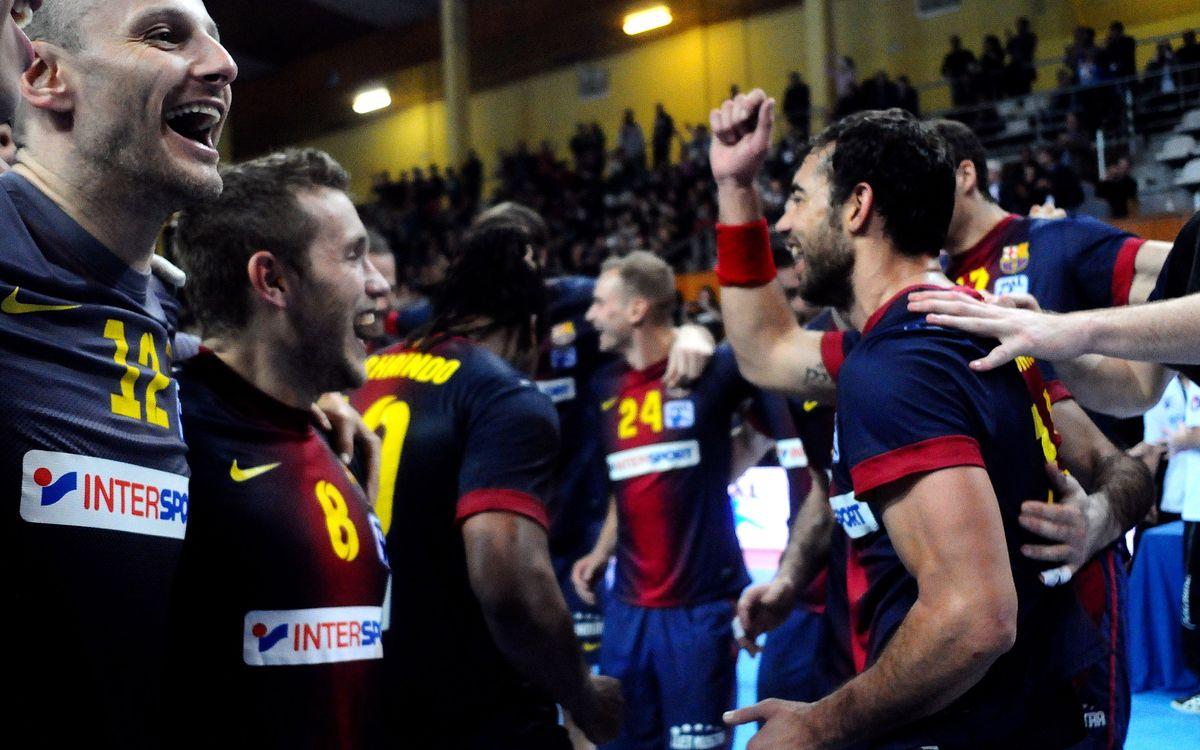 El FC Barcelona Intersport, a un triomf del títol de Lliga Asobal