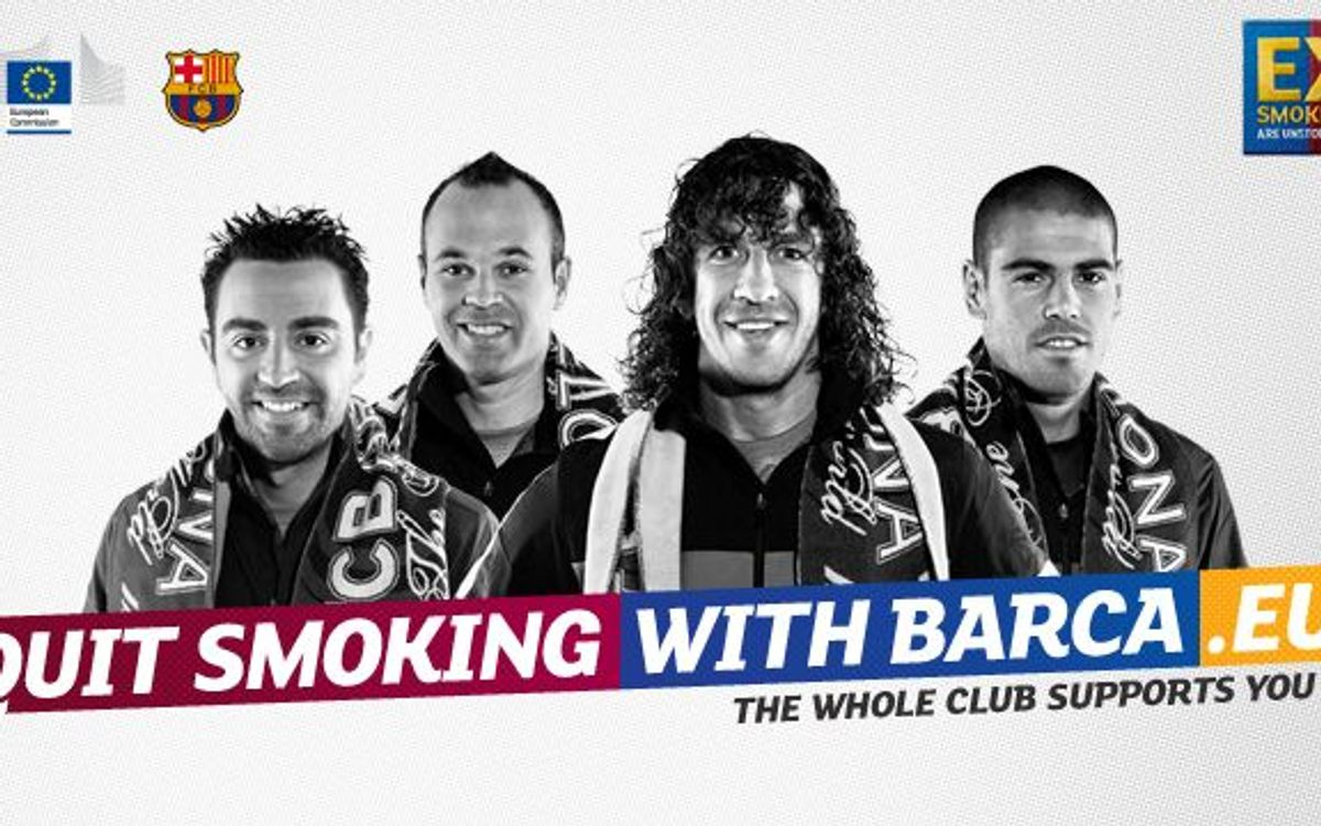 Sixty thousand europeans 'Quit smoking with Barça' and the European Comission