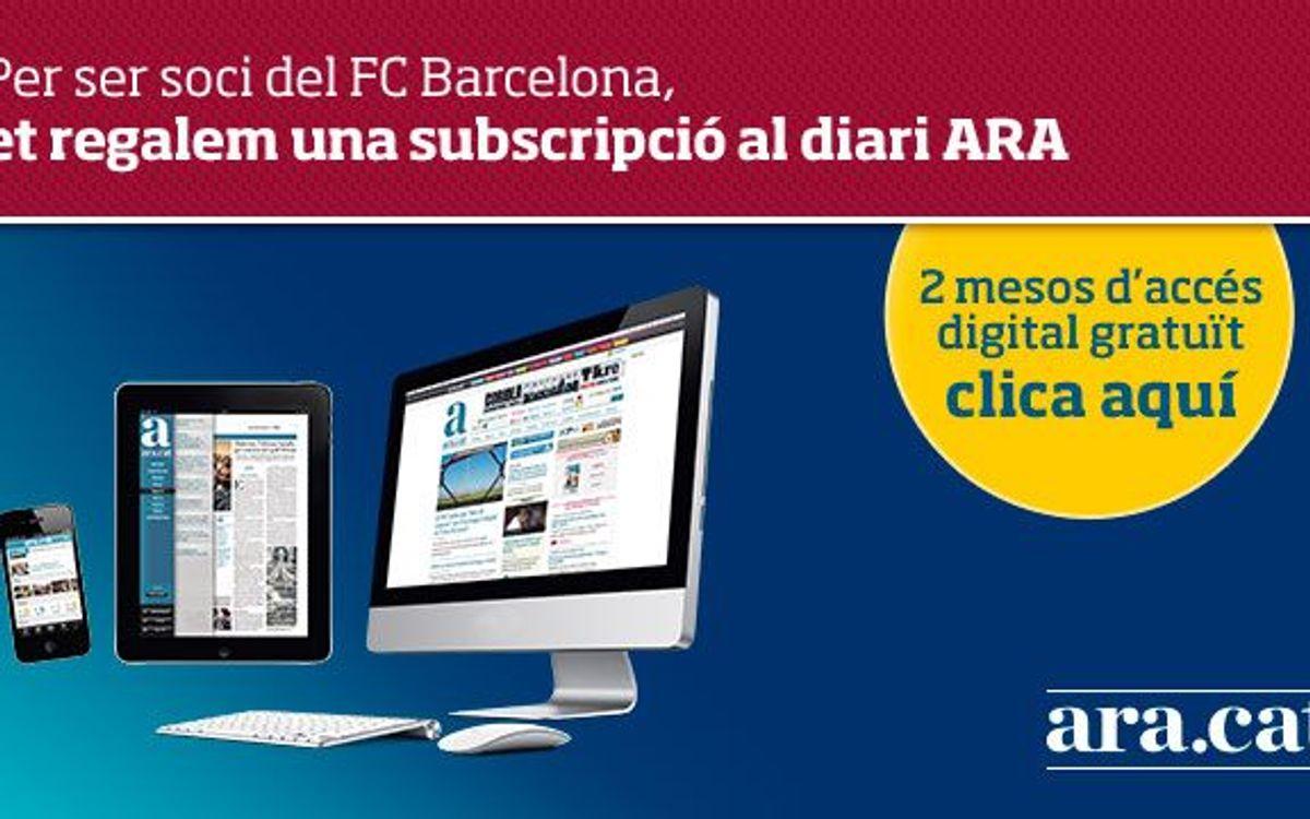 Subscripció gratuïta al diari ARA per als socis
