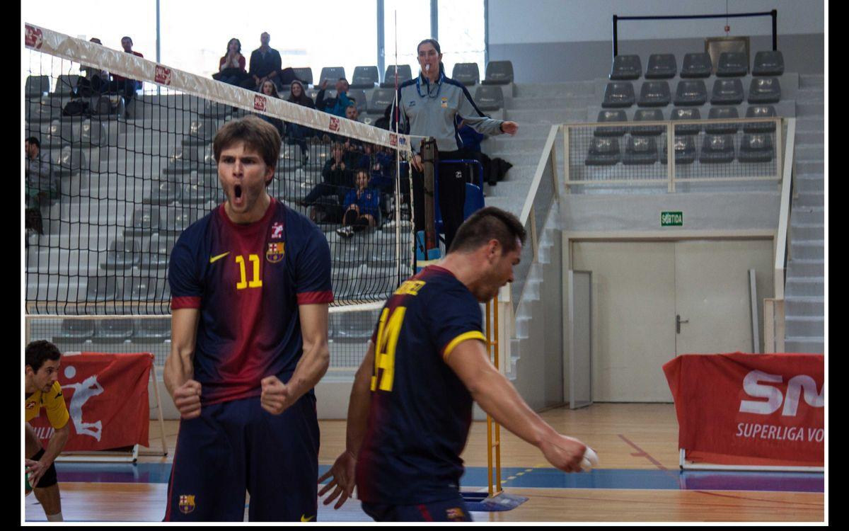 El vòlei blaugrana cau a València en els últims instants dels tres sets (3-0)