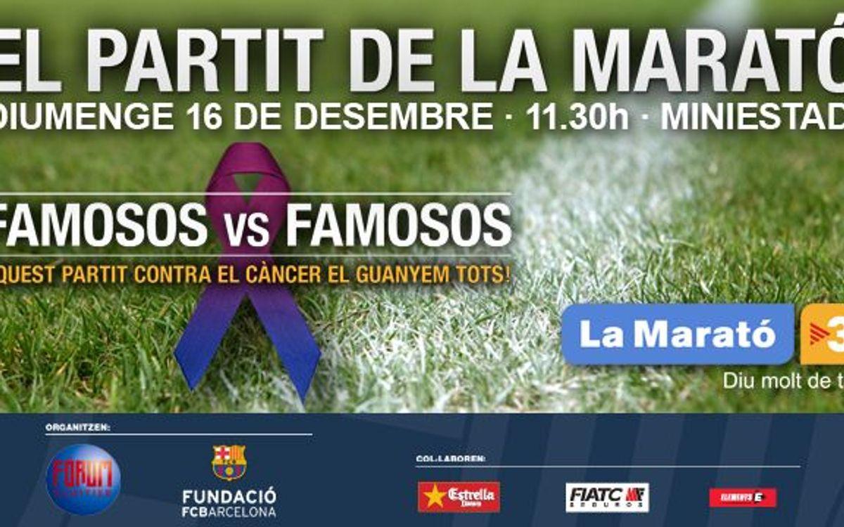El partit de futbol de La Marató, el 16 de desembre al Miniestadi