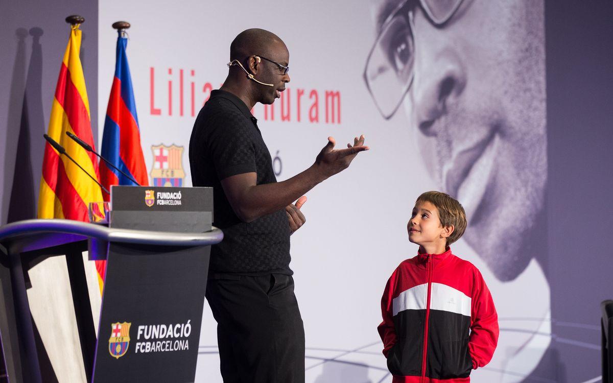 Thuram contre la racisme avec la Fondation FC Barcelone