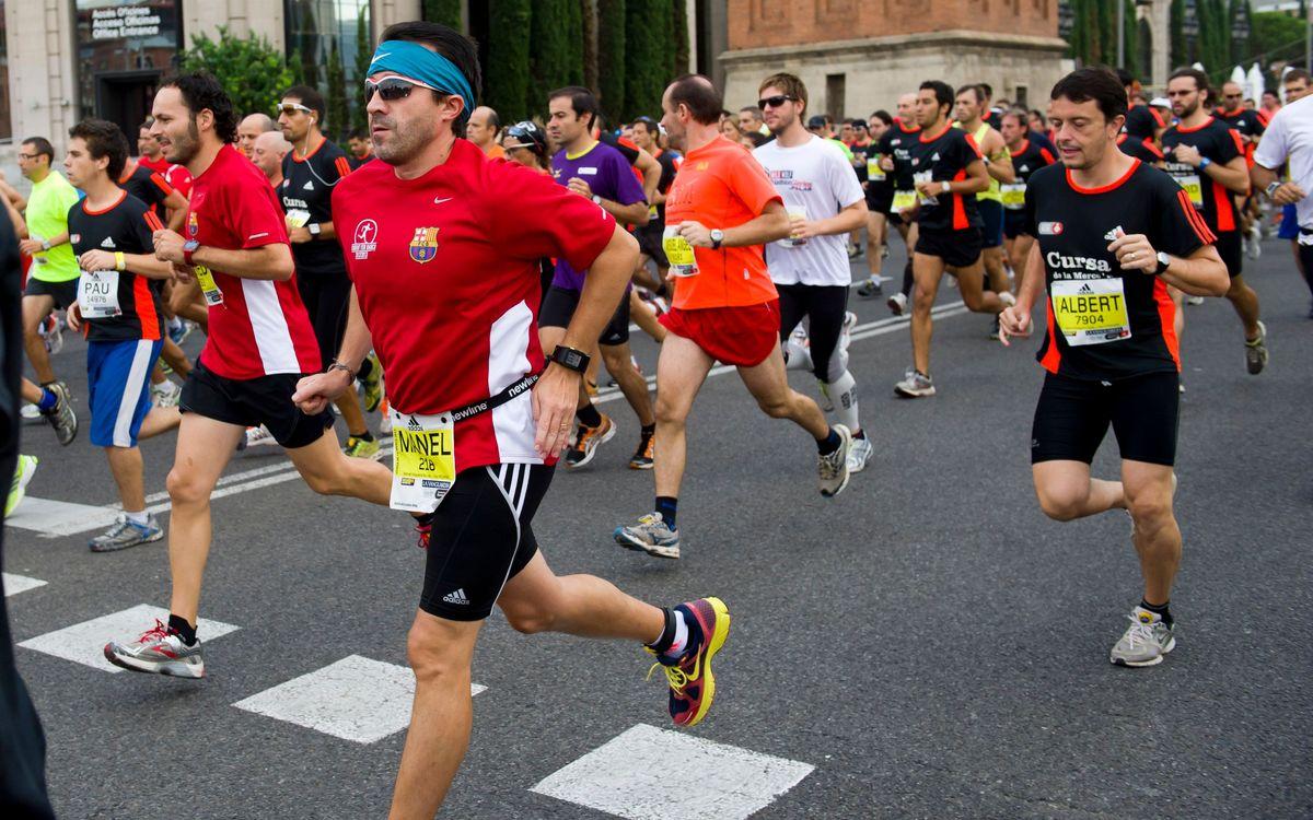 'Corrent fem Barça' a la Cursa de Bombers