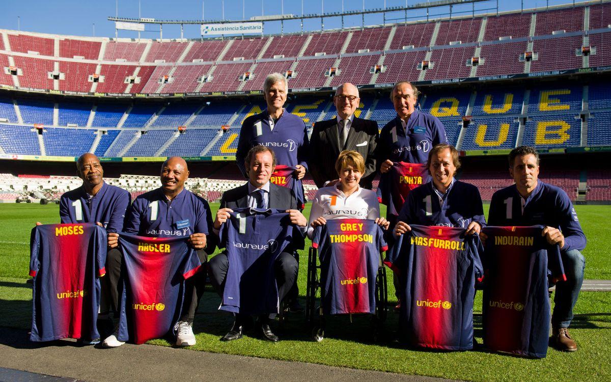 El FC Barcelona i la Fundació Laureus col·laboraran en la promoció de l'esport com a eina per al canvi social