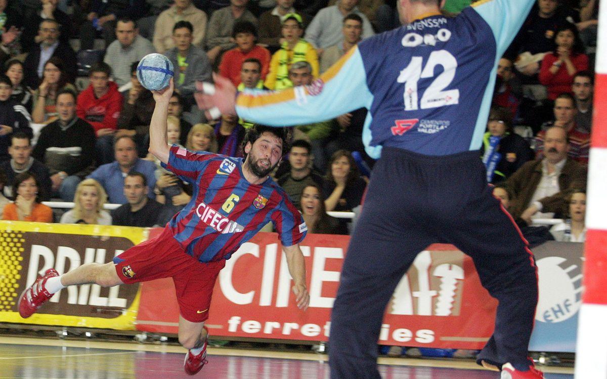 El FC Barcelona d'handbol davant equips d'Asobal a Europa