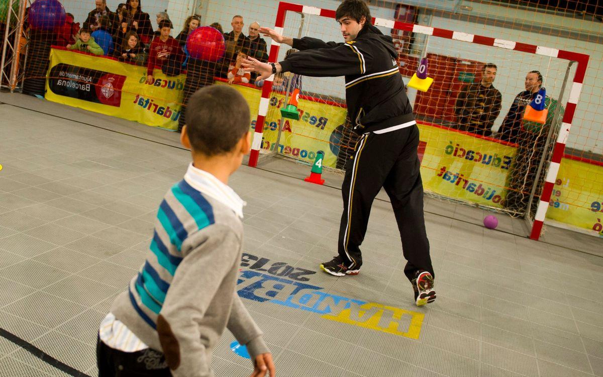 Els blaugranes de la selecció espanyola, al Festival de la Infància