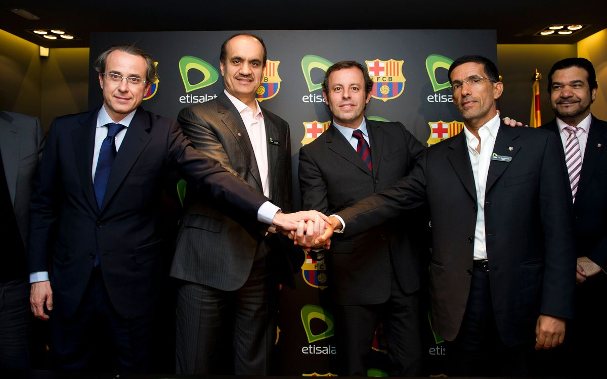 FC Barcelona and Etisalat renew sponsorship agreement
