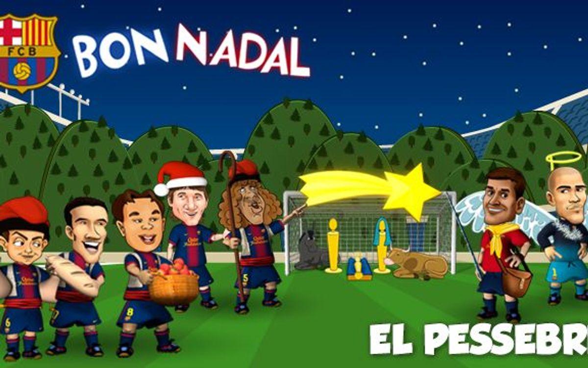 La tradition catalane de Noël expliquée par les Barça Toons
