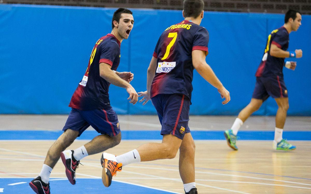El Barça Intersport B perd el seu primer partit de Lliga a la pista del Teucro (27-24)