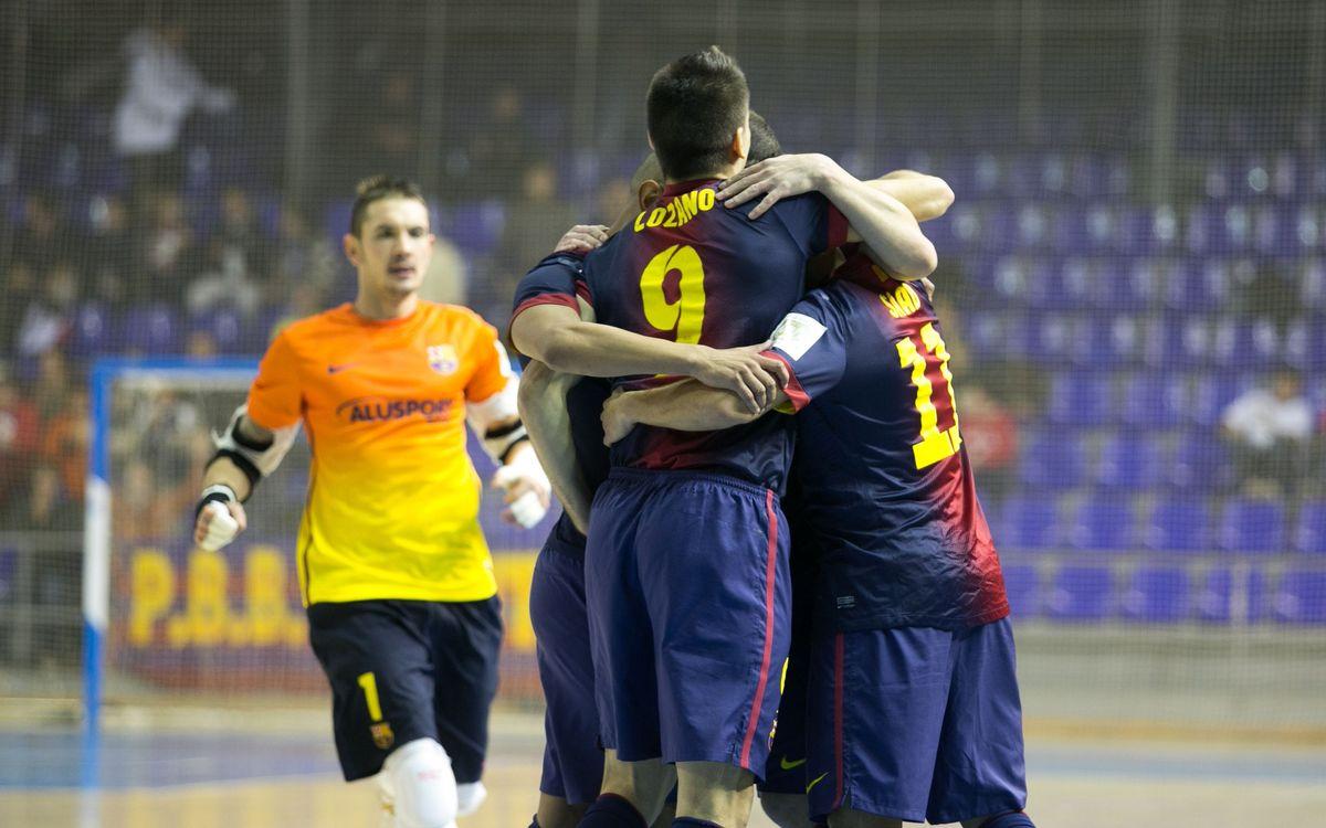 Melilla – FCB Alusport: Lozano fires Barça through to the next round (1-3)